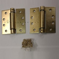 LB4310-400 Square Corner Single Act Spring Hinge-Brass <small>(#LB4310-400-633)</small>