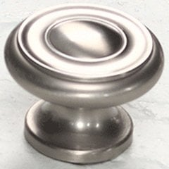 Colonial 1-1/2 Inch Diameter Satin Nickel Cabinet Knob