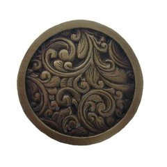 Classic 1-3/8 Inch Diameter Antique Brass Cabinet Knob