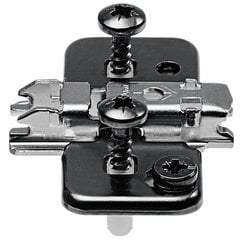 0mm Inserta Steel Wing Adjustable Mounting Plate - Black Onyx