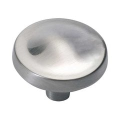 Arc 1-1/4 Inch Diameter Satin NIckel Cabinet Knob