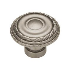 Rustique 1-7/16 Inch Diameter Antique Pewter Cabinet Knob