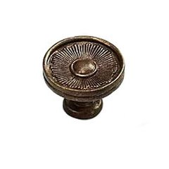 Sunburst 1-3/8 Inch Diameter Highlighted Bronze Cabinet Knob
