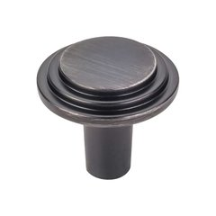 Calloway 1-1/8 Inch Diameter Brushed Pewter Cabinet Knob <small>(#331BNBDL)</small>