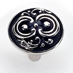 Castle Creek 1-1/4 Inch Diameter Antique Silver Cabinet Knob <small>(#13060)</small>