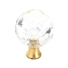 """Knob 1-3/16"""" Dia Crystal <small>(#BP731CS)</small>"""