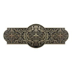 Olde World 3 Inch Center to Center Brite Brass Cabinet Pull <small>(#NHP-670-BB)</small>