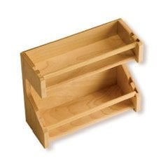 "Adjustable Spice Rack 11-3/4"" L Maple"