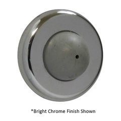 Convex Wrought Wall Bumper Satin Nickel