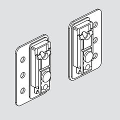 Mounting Plate With Bracket Set (For large 5 piece doors)