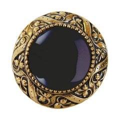 Jewel 1-5/16 Inch Diameter Brite Brass Cabinet Knob <small>(#NHK-124-BB-O)</small>