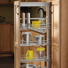 "4 Basket Pantry 50-3/4"" - 58-9/32"" H Chrome"
