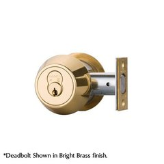 Single Cylinder Deadbolt Keyed Different Satin Brass <small>(#SB384-KD)</small>