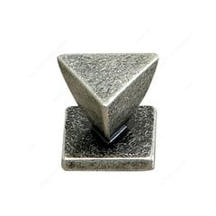 Art Deco 1-3/16 Inch Diameter Old Silver Cabinet Knob <small>(#61636228139)</small>