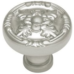 "Richelieu Knob 1-1/4"" Dia Satin Nickel"