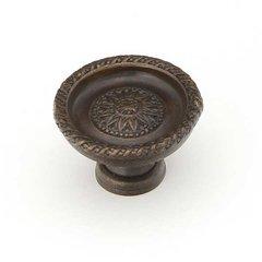 Sunflower 1-1/2 Inch Diameter Dark Glaze Cabinet Knob