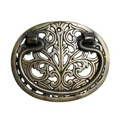 Bail Pulls 3-5/8 Inch Center to Center Unlacquered Antique Brass Cabinet Bail Pull