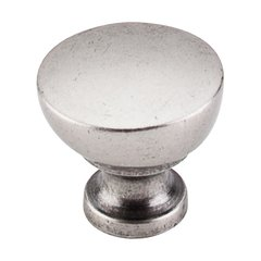 Dakota 1-1/4 Inch Diameter Pewter Antique Cabinet Knob <small>(#M1202)</small>