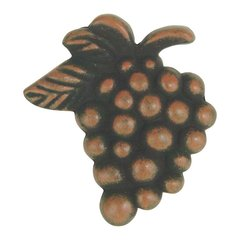 Fruit 2 Inch Diameter Rust Cabinet Knob