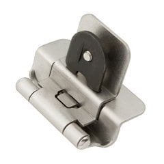 "Double Demountable 3/8"" Inset Hinge Pair Satin Nickel"