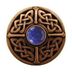 Jewel 1-3/8 Inch Diameter Antique Copper Cabinet Knob <small>(#NHK-158-AC-BS)</small>