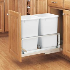 Double Trash Pullout 27 Quart-White