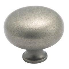 Classics 1-1/2 Inch Diameter Weathered Nickel Cabinet Knob