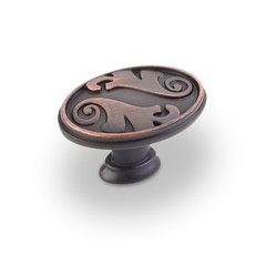 Regency 1-9/16 Inch Diameter Dark Brushed Antique Copper Cabinet Knob