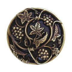 Tuscan 1-5/16 Inch Diameter Antique Brass Cabinet Knob