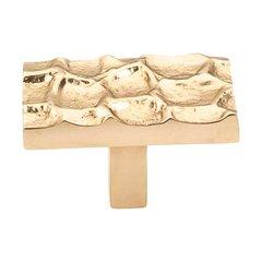 Cobblestone 1-7/8 Inch Diameter Brass Cabinet Knob <small>(#TK303BR)</small>