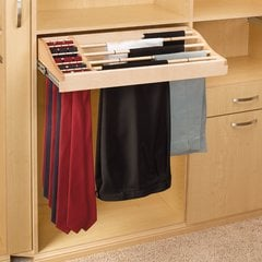 "Rev-A-Shelf 30"" Pants And Tie Rack-Wood CWPTR-3014-2"