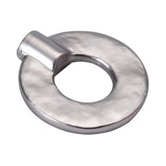 Hammered Iron 1-3/8 Inch Diameter Flat Nickel Cabinet Knob