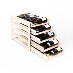 Wine Logic 5 Tray/30 Bottle In Cabinet Wine Rack Maple