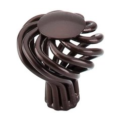 Normandy 1-1/4 Inch Diameter Oil Rubbed Bronze Cabinet Knob <small>(#M777)</small>