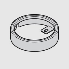 Loox 24V 3010 Surface Mount Ring - Silver <small>(#833.77.730)</small>
