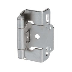 Partial Wrap 1/2 inch Overlay Hinge Nickel - Per Pair