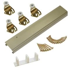 1138 Series Bypass Track and HDW Set For 2 Doors 48""