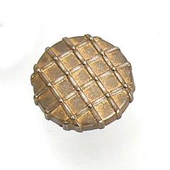 Midtown 1-1/4 Inch Diameter Antique Pewter With Bronze Cabinet Knob <small>(#39475)</small>