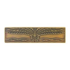 Tropical 3 Inch Center to Center Antique Brass Cabinet Pull <small>(#NHP-323-AB)</small>