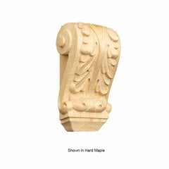 Petite Acanthus Corbel Unfinished Red Oak