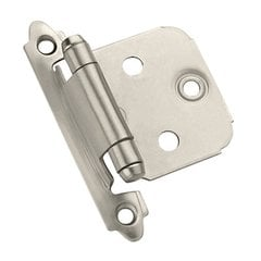 Variable Overlay Hinge-Satin Nickel-Sold Per Pair