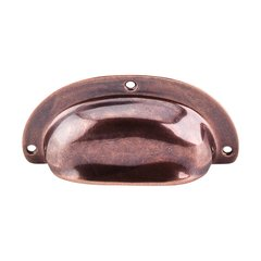 Tuscany 3-3/4 Inch Length Old English Copper Cabinet Cup Pull <small>(#M213)</small>
