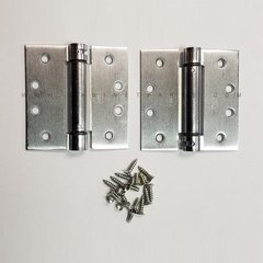 LB4310-400 Square Corner Single Act Spring Hinge-Chrome <small>(#LB4310-400-652)</small>