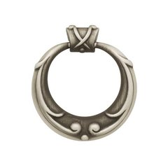 French Romantics 2-1/16 Inch Diameter Brushed Satin Pewter Cabinet Ring Pull