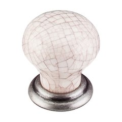Chateau 1-1/8 Inch Diameter Pewter Antique Cabinet Knob <small>(#M110)</small>