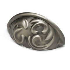 Arcadia Forged Solid Brass 3 Inch Center to Center Antique Nickel Cabinet Pull