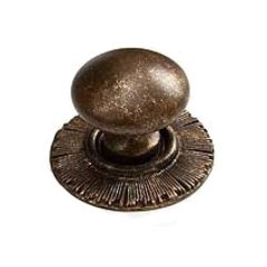 Sunburst 1-1/4 Inch Diameter Highlighted Bronze Cabinet Knob
