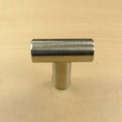 Stainless 1-3/8 Inch Diameter Brushed Stainless Steel Cabinet Knob