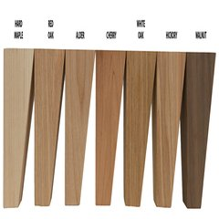Brown Wood 2 Sided Square Tapered Leg Unfinished Hard Maple 01530210HM1