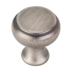 Westbury 1-1/4 Inch Diameter Bright Nickel Brushed with Dull Lacquer Cabinet Knob <small>(#3898BNBDL)</small>